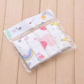 Soft Pure Cotton Handkerchiefs Anti Bacterial Muslin Bamboo Easy Wash / Dry