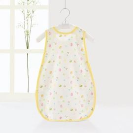 Short Sleeve Cotton Muslin Sleep Sack , Summer Weight Baby Sleeping Bag 2 Layers