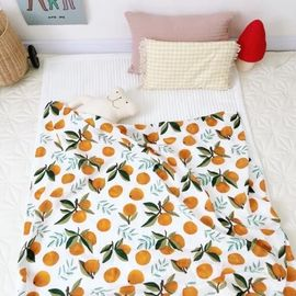 Cotton Muslin Receiving Blankets Skin Friendly  Tummy Time Blankets Reactive Printing