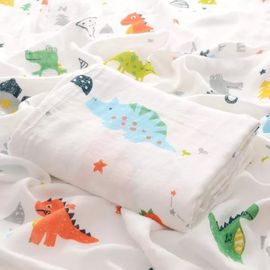 Comfortable Organic Cotton Muslin Fabric Eco Friendly Original Design