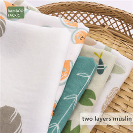 Super Absorbent Organic Muslin Receiving Blankets , Lightweight Cotton Fabric