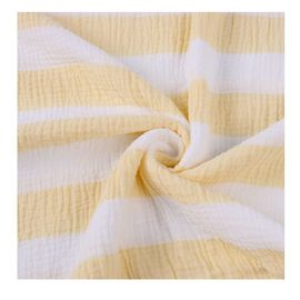 Anti Bacterial Open Weave Muslin Fabric , Muslin Quilt Fabric 90-120gsm Comfortable