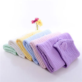 Cotton Muslin Hooded Towel Animal Pattern Super Strong Water Absorption