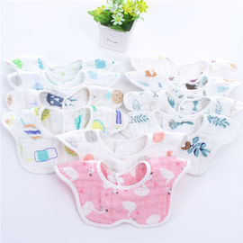 Reusable Baby Girl Dribble Bibs / Washable Durable Muslin Baby Clothes