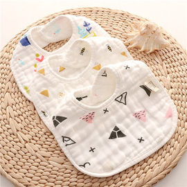 Dyed Premium Muslin Newborn Baby Bibs Absorbent Existing Pattern Eco Friendly