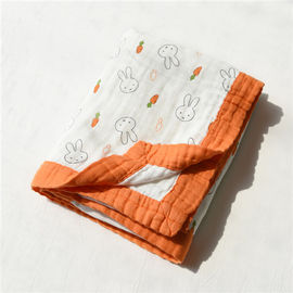 6 Layers Anti Bacterial Muslin Baby Blankets Super Absorbent For Summer