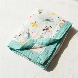 Zero Formaldehyde Muslin Stroller Blanket / Lightweight Baby Cotton Swaddle Wraps