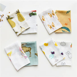 Cute Animal Pattern Baby Muslin Handkerchief Cloth Custom Printing