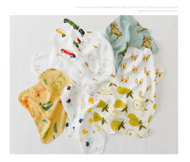 Food Grade Pure Cotton Handkerchiefs Muslin Baby Bibs Infant Washcloths Quick Dry Cloths