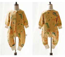 Muslin Printed Long Sleeve Sleeping Bag Clothes Woven Anti Bacterial For All Seasons