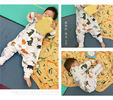 Anti Kick Muslin Baby Pajamas Baby Sleeping Romper Soft Touch Eco - Friendly