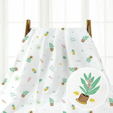 Multifunctional Newborn Baby Swaddle , Cotton Gauze Blanket All Natural
