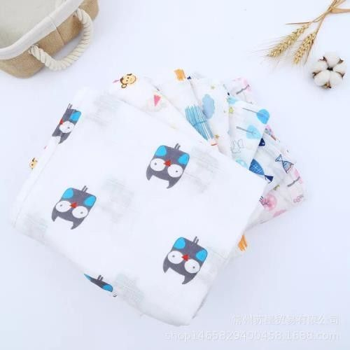 Comfortable Muslin Receiving Blankets Safe Healthy Multi Use 98*74 Mesh