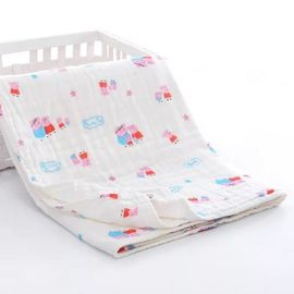 China Solid Muslin Receiving Blankets 70 Percent Bamboo Customized Layer Ultra Soft factory
