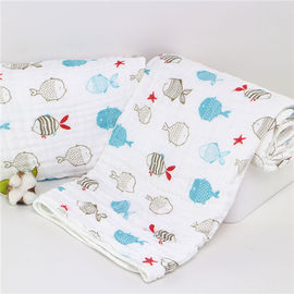 China Unique Cute Baby Swaddle Blankets , Muslin Cloth Baby Wraps Super Absorbent factory