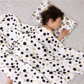 China Natural Soft Muslin Toddler Stroller Blanket , Customize Baby Blankets factory