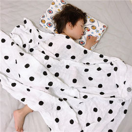 China Cotton Muslin Receiving Blankets 100 Percent Hypoallergenic Cotton Six Layers factory